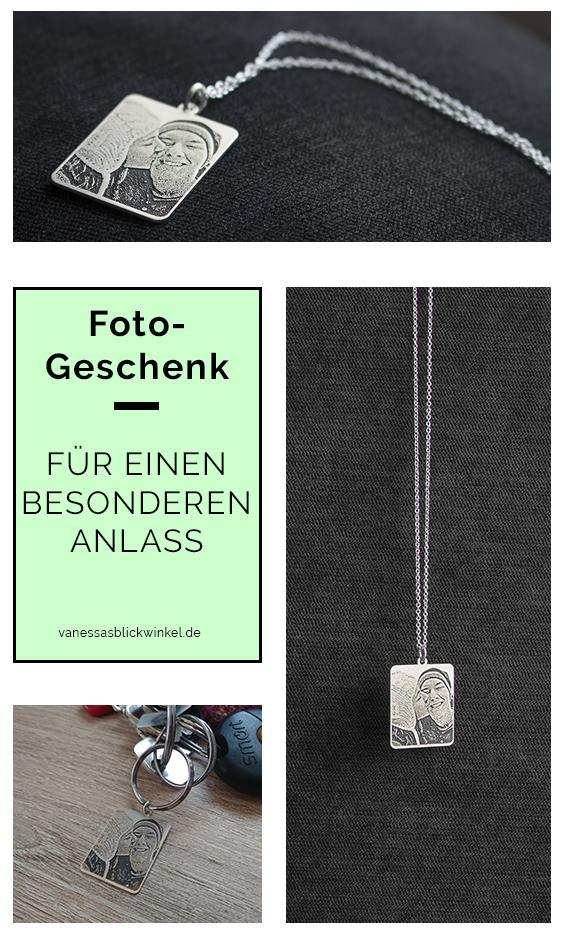 """Pinterest-Grafik zum Blogpost """"Geschenkidee: Kette mit Foto-Gravur"""" von Blickwinkel Fotografie Vanessa von Wieding in Emmerthal bei Hameln"""