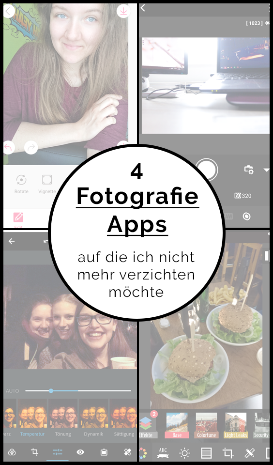 """Pinterest-Grafik zu """"Vier praktische Fotografie-Apps"""" auf Blickwinkel Fotografie Vanessa von Wieding in Emmerthal bei Hameln"""