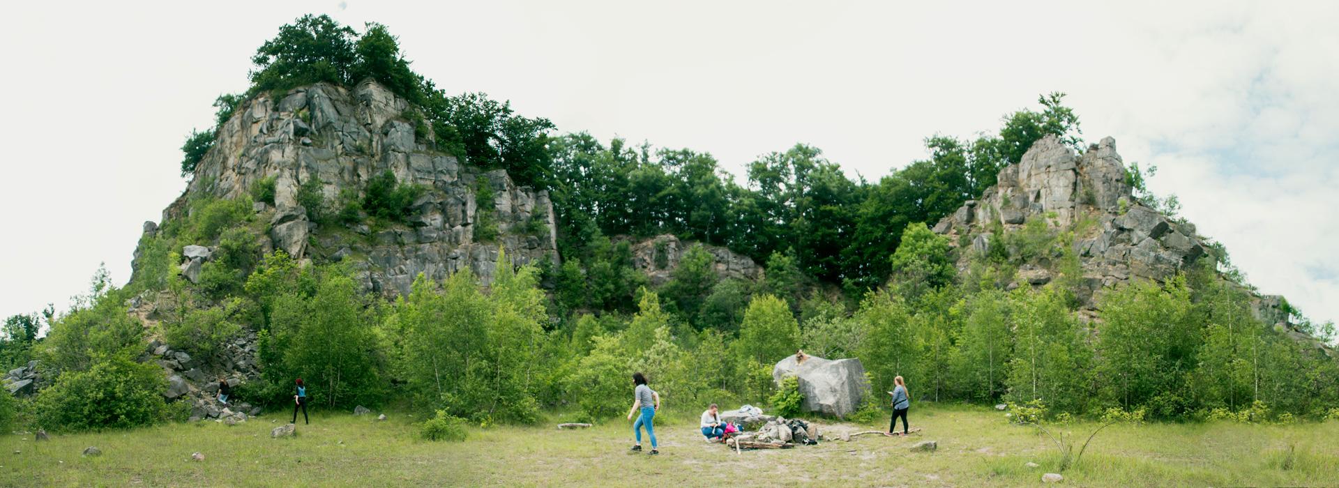 Panaromafoto von einem alten Steinbruch in Salzhemmendorf
