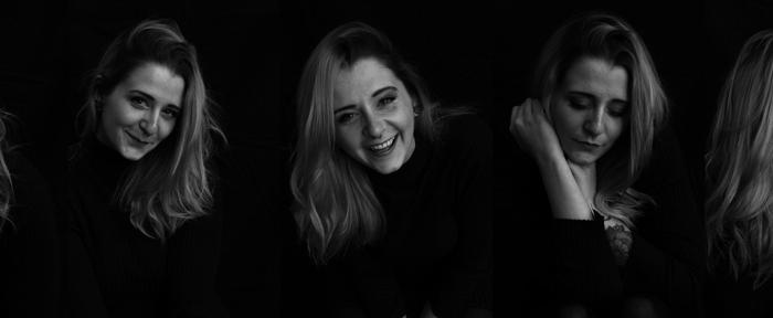 Emotionsshooting mit Anni Zimmermann in schwarz-weiß auf Blickwinkel Fotografie Vanessa von Wieding in Emmerthal bei Hameln